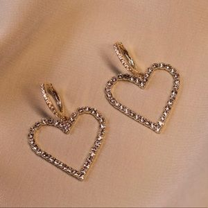 ✨18K Rose Gold Heart Drops l✨
